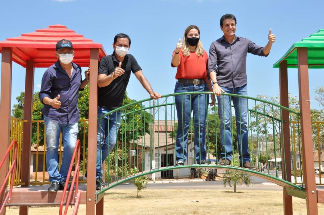 Participando de ações em prol da comunidade de Almas do TO