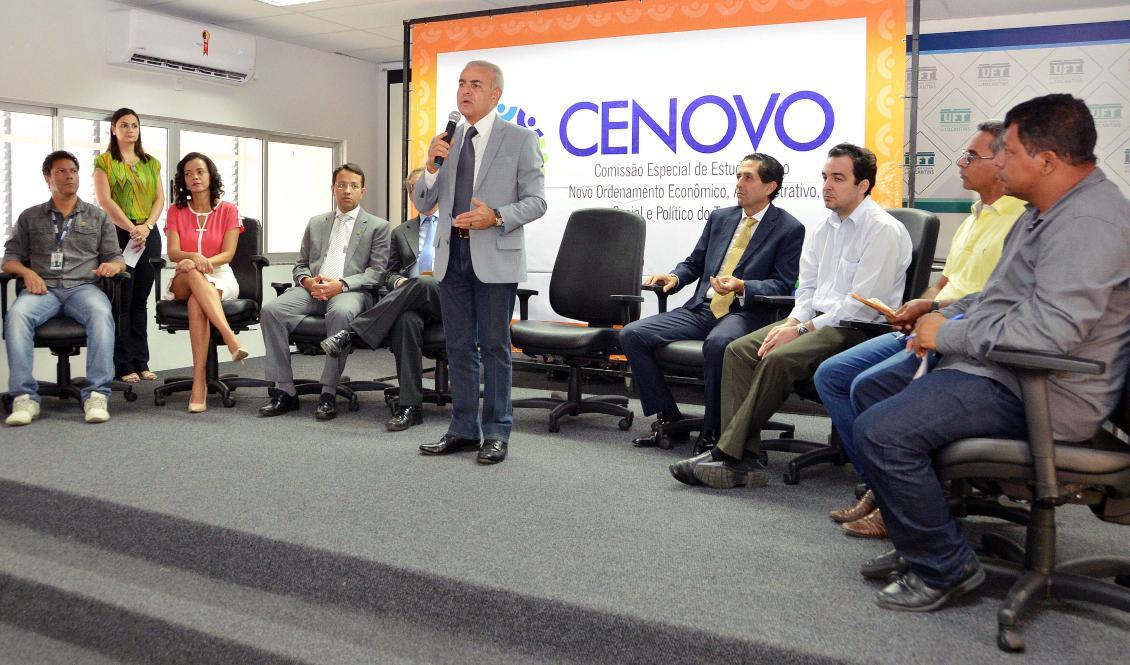 A reunião aconteceu no Campus Universitário Professor Doutor Sérgio Jacintho da UFT de Arraias