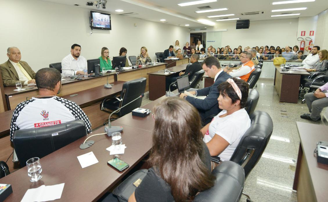 A audiência foi conduzida pela autora do requerimento, a deputada Claudia Lelis (PV)