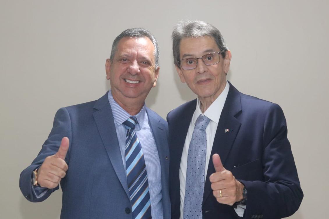 Antonio Andrade e Roberto Jefferson, presidente nacional do PTB