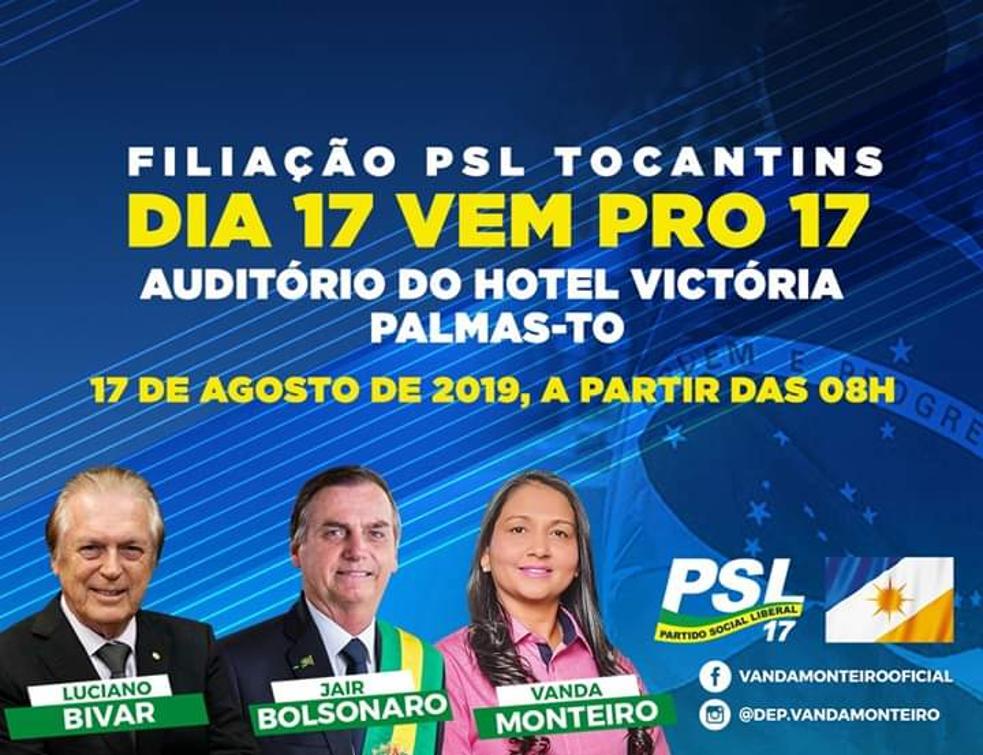 Vanda Monteiro convida eleitores para ato de filiação do PSL