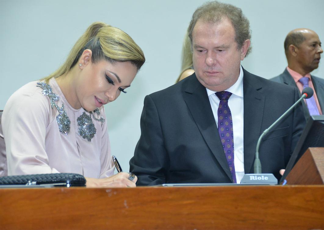 Luana destacou também sua responsabilidade à frente do Legislativo