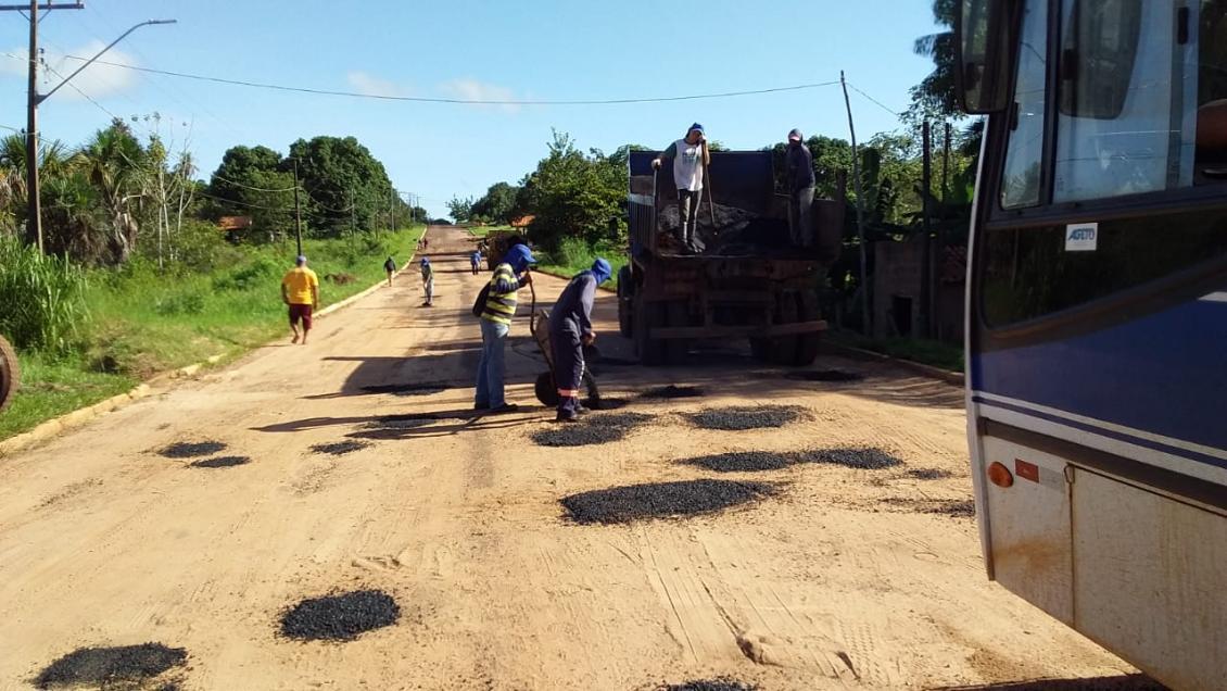 Recuperação da TO-126, no trecho entre os municípios de Maurilândia e Itaguatins