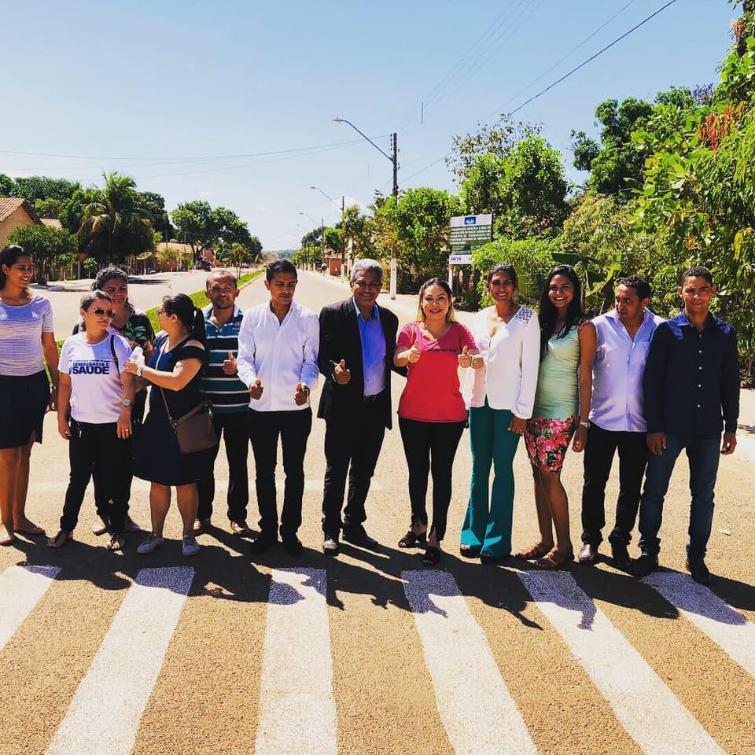 Luana entrega asfalto em Palmeirante feito com recursos deixados pelo senador João Ribeiro