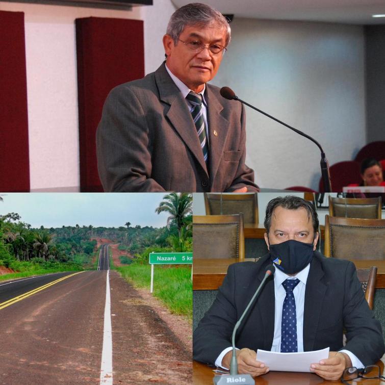 As razões da homenagem são pelos relevantes esforços para a viabilização da pavimentação da estrada