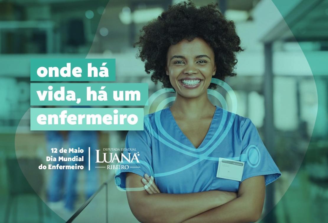 Luana Ribeiro homenageia profissionais de enfermagem
