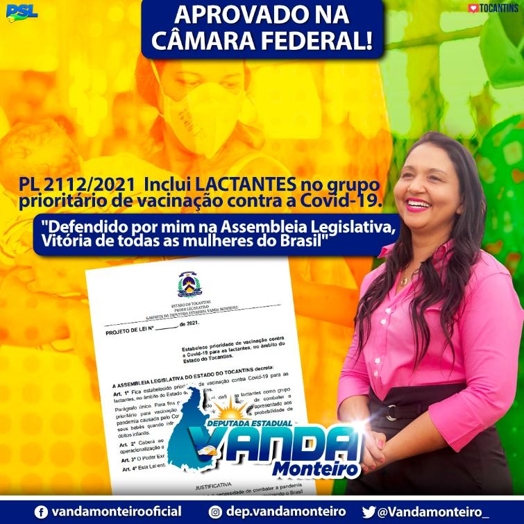 Pauta defendida por Vanda Monteiro na Assembleia.
