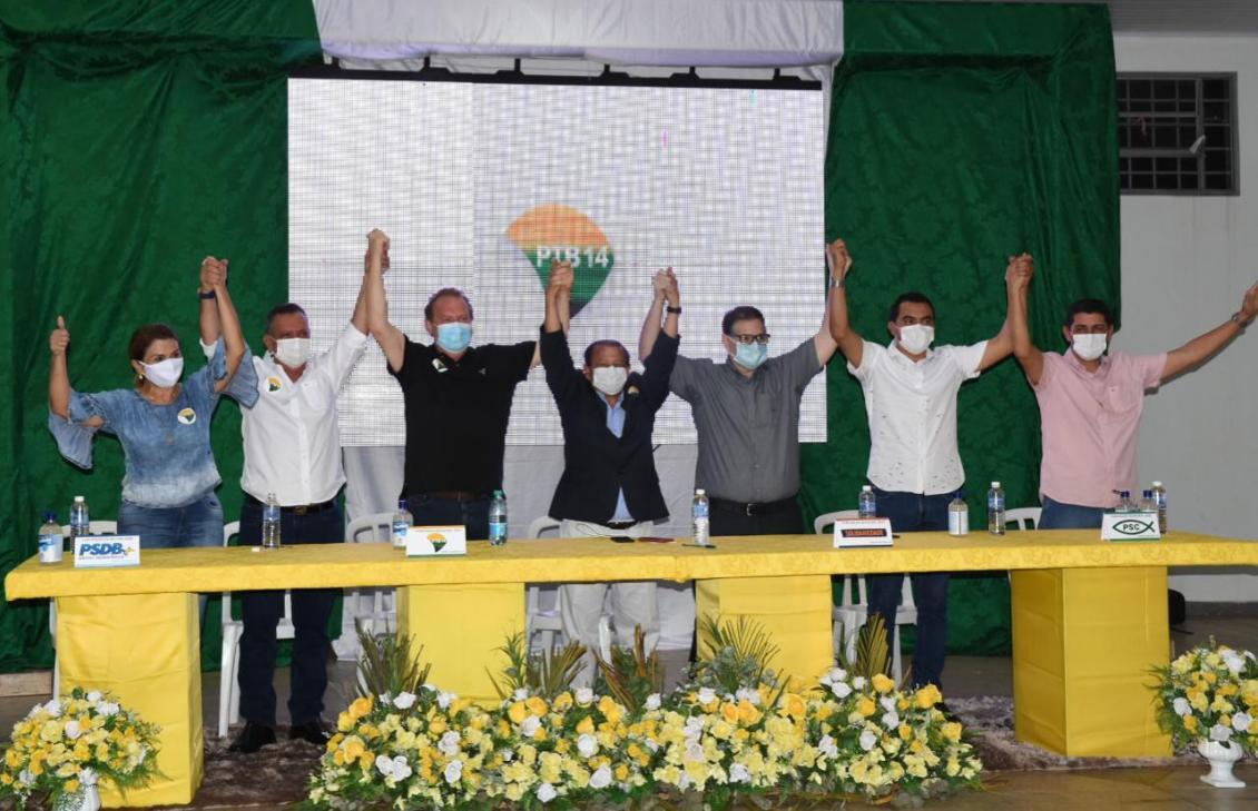 Antonio Andrade, Virgínia Andrade, Mauro Carlesse, Otoniel Andrade, Dr Hugo, Wanderlei e Valdemar Jr