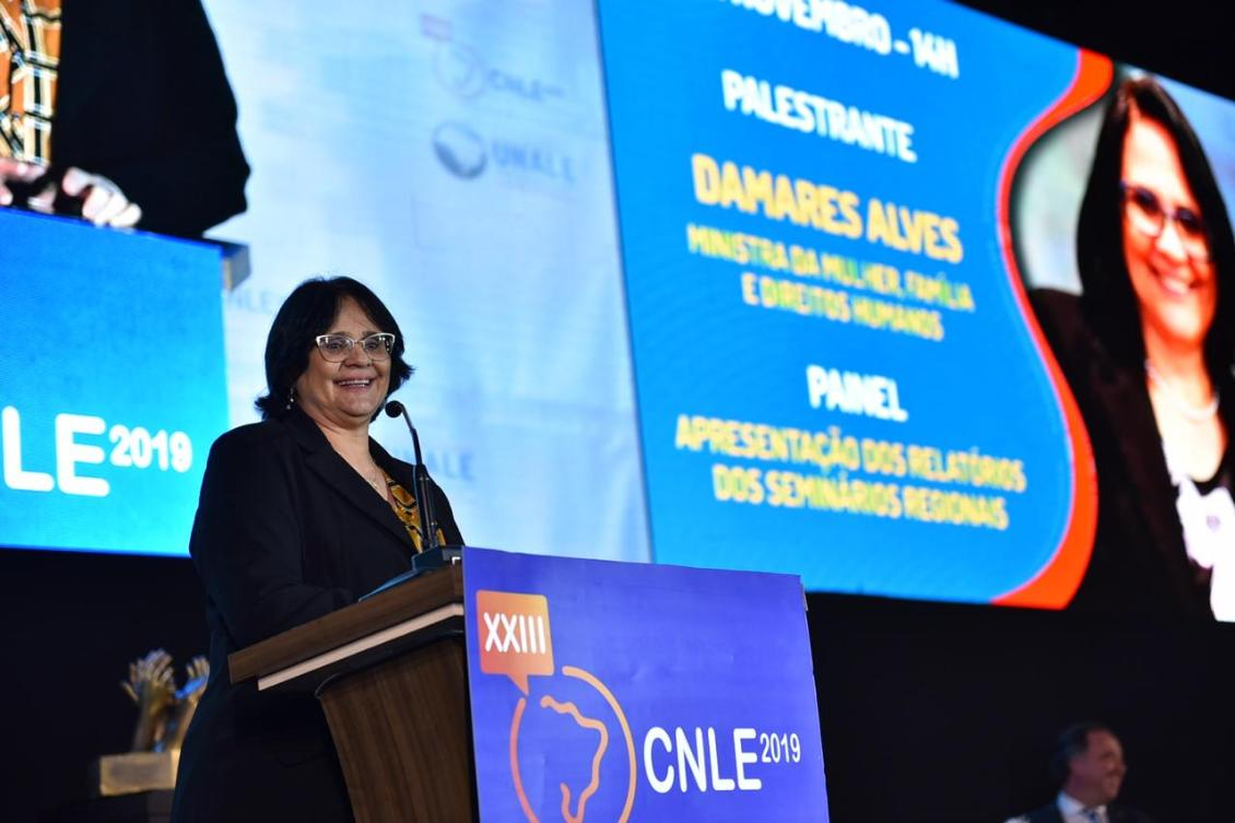 Damares Alves enalteceu a parceria da Unale.