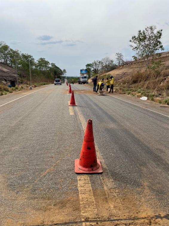 Sinalização está sendo instalada próximo a Praia do Funil, em Miracema do Tocantins