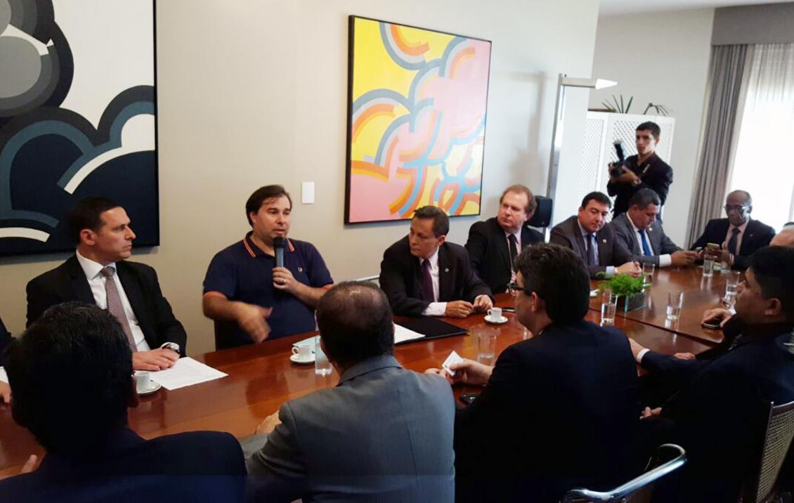 Presidente Carlesse participa de reunião com Michel Temer, Rodrigo Maia e Eunício Oliveira