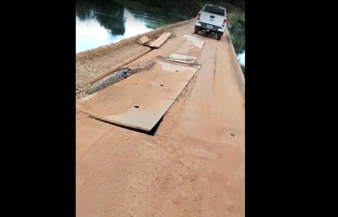 Ponte sobre o Rio Urubu na TO-181 em Lagoa da Confusão