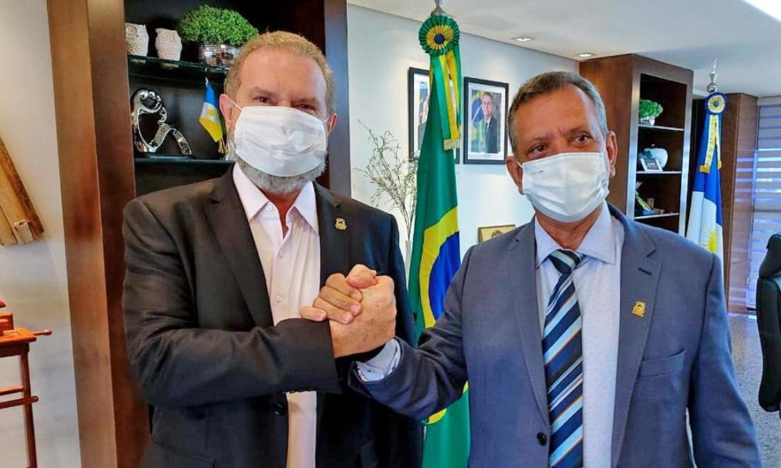 Antonio Andrade e Carlesse durante reunião nesta quarta-feira, 07.