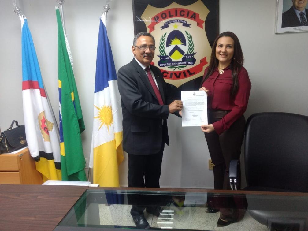 Delegado Rérisson é recebido pela Delegada Geral da Polícia Civil Maria Raimunda