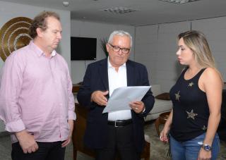 Mauro Carlesse,Manoel Pires e Luana Ribeiro